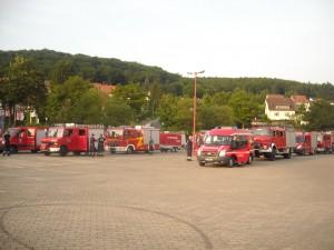 Fahrzeuge der KFB 3 auf dem Sammelplatz Wehrstedt