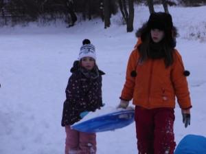 Da das Wetter uns ordentlich Schnee beschert hatte, verlegten wir unseren Dienst kurzerhand nach draußen.
