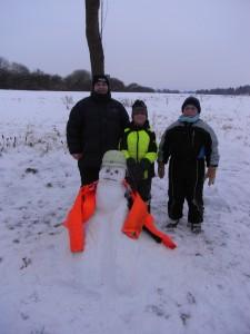 Der Feuerwehrmann war etwas schwieriger, lag am Schnee, wirklich!